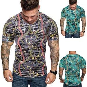 짧은 소매 o 목 정상 망에 의하여 인쇄되는 Tshirts 여름 호화스러운 옷 남성 Homes Tshirt