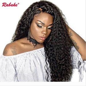 Brasilianische Jungfrau Remy volle Spitze-Menschenhaar-Perücken Rabake peruanische Afro verworren Curly Gluless Silk volle Spitze-Perücke Cap Perruques für Schwarze Frauen