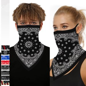 3D американский флаг Pattern велоспорта Маски шарф мужской треугольник бандана шарфы платке маска Открытый Велоспорт оголовье CCA12109 50шт