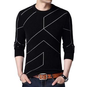 Yeni Sonbahar Kış Moda Erkek Kazak Giyim Kazak Erkek Kazak O Yaka İnce Fit Nefes Katı Renk Kazak İçin Erkekler