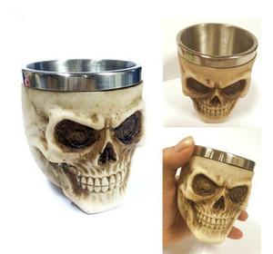 100ML 3D Mini testa del cranio tazza dell'acqua di campeggio di picnic del partito di Halloween in acciaio inox tazza dell'acqua della tazza del vino
