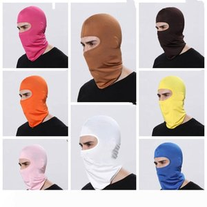 Cycling Windproof Face Masks Pure Color Bike Sport Scarf Mask Winter Warm Masks Kidnappers Acting props Mask WY482Q
