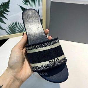 París para mujer Zapatillas desgastes verano sandalias de playa de diapositivas de los deslizadores de las muchachas de las chancletas de los holgazanes de los deslizadores hermoso bordado