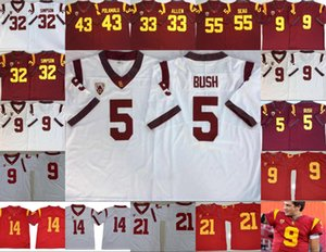 USC Trojans de la vendimia cose hombre Jersey Reggie Bush 32 OJ Simpson 14 Sam Darnold 9 Kedon Slovis 43 Troy Polamalu 55 Seau