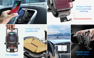 Holder Baseus Car Phone For Iphone Samsung Intelligent Infrared Qi Car Wireless Charger Air Vent Mount Mobile Phone Holder Stand C93Z