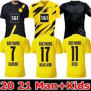 MAN + KIDS 19 20 21 بوروسيا دورتموند REUS M.GOTZE باكو ألكاسير الفانيلة كرة القدم 2019 2020 تعتيم SANCHO PULISIC هاملز هالاند قميص الرياضة