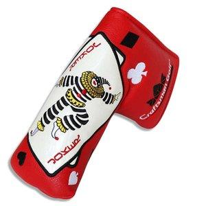 Craaftsman Golf Blade Putter Başörtüsü Manyetik kapatma Poker Joker Jak Kırmızı / Beyaz / Siyah PU Deri Havuz Aksesuarları kapsayacak