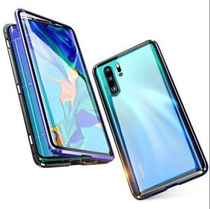 Mais novo frente e verso curvo vidro temperado phone case para huawei p30pro completa proteger tampa do telefone magnético para mate 20 pro casos top quality