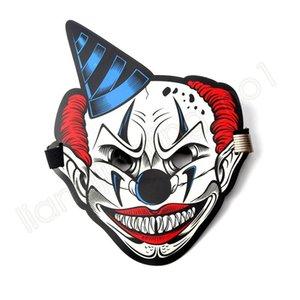 Nouveau LED Glowing Masque de contrôle Son Son actif Danse lumière Thème Party cosplay animal Clown Mask (sans batterie) HHA409