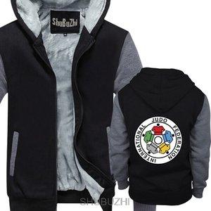 hoodie di inverno hoodies spessi inverno camicia di forza sbz4597 Nuova IJF Internazionale di Judo Federation Uomo