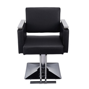 Square Base Boutique Hair Salon Special Hairdressing Chair Beauty Chair Black