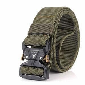 Táctico Cinturón Pesado correa del cinturón de los hombres de la cintura ajustable Correas estilo de la correa de nylon con hebilla de metal