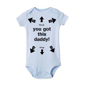 You Got This Daddy Baby romper Newborn Infant Girls Boy Short Sleeve Funny Cool Dad Cotton Rompers Jumpsuit Outfit Father Gift