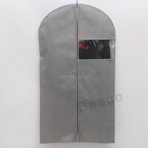 Roupa Dustproof Capa de tecido não tecido de roupa casaco Proteja Storage Bag Household Roupeiro Closet Zipper Organizador Bags DBC BH2765