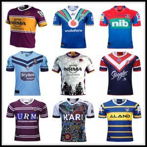 19 20 Brisbane Broncos Parramatta Eels Australis maillot de rugby Roosters de Sydney 2019 TUDEURS BLANCS Guerrier des Chevaliers INDIGÈNE Sea Eagles