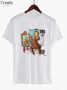 Van Gogh Art T Shirt Women Top Oil Print T Shirt Female Streetwear 2020 Casual Tshirt Graphic Tee Shirts Harajuku Femme