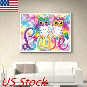 Brand New And High Quality Owl DIY Full Drill Diamond Painting Cross Stitch Kits Home Decor Craft Gift USA