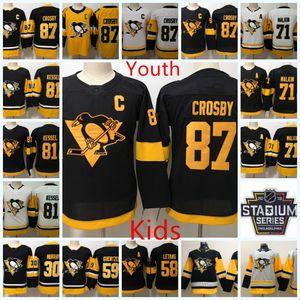 Gioventù Pittsburgh Pinguini Sidney Crosby Jersey Kid Evgeni Malkin Phil Phil Kessel Stadium Jake Guentzel Kris Leaang Penguins Jake Guentzel Jersey