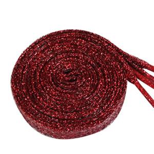 1pair 120cm Couleurs nacrés Double métallique plat Glitter Lacet FOURGONS Lacets 8 couleurs