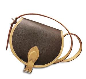 LUXE Design Small Crossbody Purse Handbag Woman Lady Bag Round Flap Box Satchel Pouch