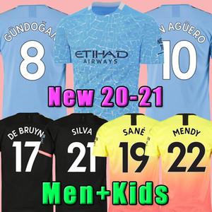 Thailandia 20 21 STERLING De Bruyne Kun Aguero Maglia Manchester Soccer City 2020 2021 SANE camicia JESUS calcio degli uomini + kids kit set uniforme