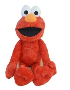 Regalos 45cm Sesame Street Elmo juguetes de peluche relleno suave Animal muñeca rellenado rojo Juguetes de Navidad para los juguetes para niños