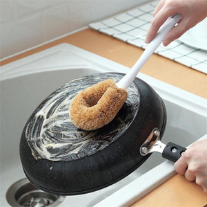 Reinigungsbürste Natürliche Coconut Antihaft-Öl Stiel Wohnung Küche Badezimmer Esszimmer Spültechnik Öl Hanging Pinsel XD23300