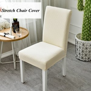 ROMANZO Super Thick Cotton Spandex Dining Chair Cover Stretch One Piece Universal Chair Covers Machine Washable High Back Chair Y200104