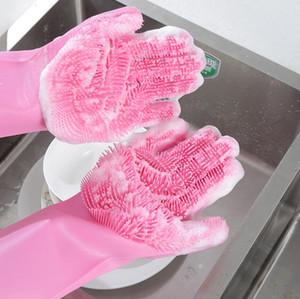 ماجيك سيليكون صحن غسل قفازات اكسسوارات المطبخ غسل الاطباق قفاز أدوات منزلية لتنظيف السيارات فرشاة عالية الجودة 5 ألوان