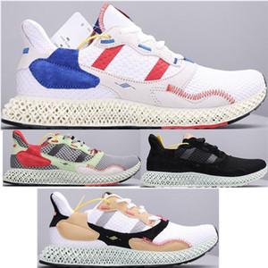 Mens ZX 4000 Futurecraft 4D Eğitmenler Erkekler için ZX4000 Koşu Ayakkabıları erkek Sneaker Erkek Spor Ayakkabı Adam Eğitmen Sneaker Spor Chaussures