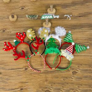 Рождество Рога повязки Снежинка голову пряжки взрослых детей Рождественская елка головные уборы Новый год украшения для дома JK1910