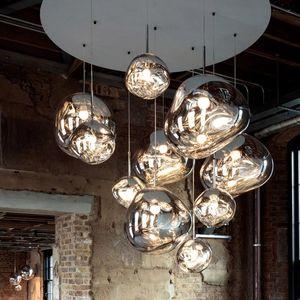 Ev Dekorasyonu Salon Bar Cafe Loft Mutfak Fikstür Hanglamp için Nordic Cam Lav E27 Kolye Işıklar Aydınlatma kolye Lambalar