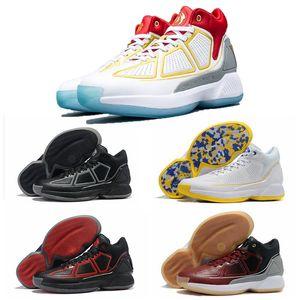 2019 D Gül 10 YR Beyaz Mavi Sarı Siyah Kırmızı Çıkma Basketbol Ayakkabı Yüksek kaliteli Derrick 10s Mens Sneakers Gül 10 Boyut 40-46