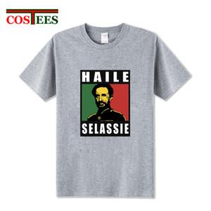 Haile Selassie Emperor T Shirt men Ethiopia Rastafari reggae T-Shirt Homme Short sleeve O-neck tshirt crossfit fitness Tee shirt