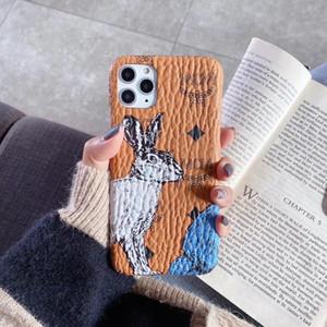 Vogue Cartoon Cas mignon de lapin Imprimer Téléphone pour IPhone 11 Pro 11Pro 9 8 7 8plus 7plus 6 6s plus cuir Anti Skid couverture TPU Retour Shell