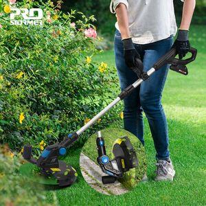 PROSTORMER Lawn Mower Grass Trimmer elettrico 20V agli ioni di litio 2000mAh Cordless Grass String Trimmer Potatura Cutter Garden Tools T200115