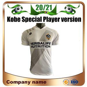 20 / 21Kobe emblema especial MLS Los Angeles Galaxy Soccer Jersey 2020 versão Player Home PAVON Futebol camisa ALESSNDRINI LLETGET Football unifo