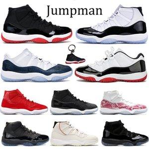 Новые 11s XI Jumpman баскетбольные туфли High bred Concord 45 space jam Мужчины Женщины кроссовки спортивная обувь низкая змея темно-синие кроссовки