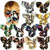 Wholesale Hair Scrunchies Satin Silk Elastic Hair Bands Large Bow Ponytail Holder Scrunchy Ties Vintage Accessories for Women Girls