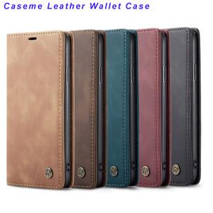 Для Iphone 11 XS MAX XR X 8 7 6 CaseMe кожаный бумажник чехол Samsung S20 S10 A90 A80 A50 A40 магнитная застежка старинные откидные крышки в наличии
