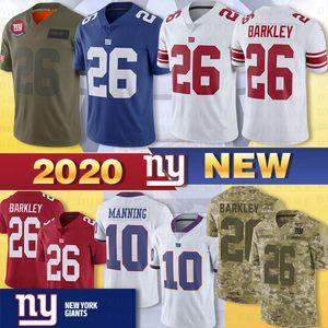 8 Daniel Jones 26 Saquon Barkley Нью-Джерси Йорк 10 Эли Мэннинг Giant 15 Брэндон Маршалл Коллинз Стерлинг Shepard прошитой Джерси 2020 Новый