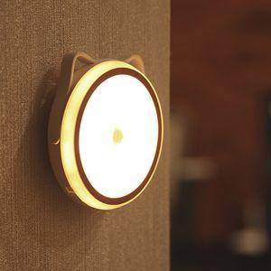Mıknatıs uvb emebilir Ubs şarj edilebilir gece lambası akıllı insan vücudu indüksiyon led yatak odası başucu lambası çapraz sınır sıcak satış