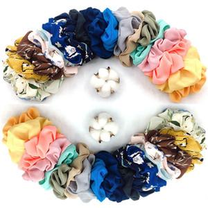 20Color / şifon Saç Scrunchies Kız Çiçek Baskı hairbands Elastik Saç Halat at kuyruğu Tutucu Scrunchie Kafa GGA2869 paketi