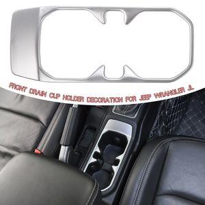 Передний держатель стакана воды декоративная крышка серебро для Jeep Wrangler JL 2018 Заводская розетка высокое качество авто внутренние аксессуары