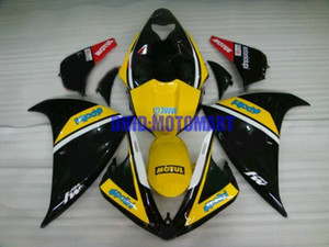 Kit carenatura moto per YAMAHA YZFR1 09 10 11 12 YZF R1 2009 2012 YZF1000 ABS Giallo nero Carenature + regali YF02