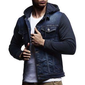 Erkek Yüksek Kalite Moda Klasik Katı Giyim İçin Yeni 2018 Erkekler Jeans Ceketler Erkekler Kapşonlu Sonbahar Kış Kaban