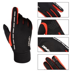 Windproof Cycling Bicycle Gloves Winter Thermal Fleece Warm Full Finger Touch Screen Gloves Men Women Riding Bike Long Glove Hot