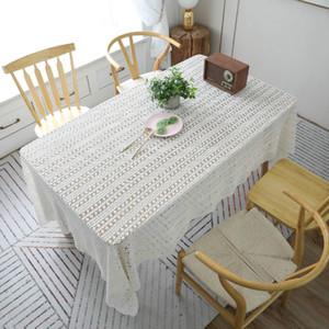 Lace Crochet Tischwäsche Baumwolle Woven höhlt Antependium New Piano Handtuch Abdeckung reine Farben-Spitze-Tuch