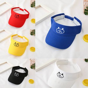 Children's Embroidered empty cute cat embroidery outdoor sun hat for boys and girls Baby's outdoor sun hat