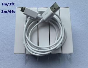 100pcs التي 7 أجيال الأصل OEM جودة 1M 3FT 2M 7ft USB مزامنة بيانات كابل المسؤول مع حزمة البيع بالتجزئة الجديدة